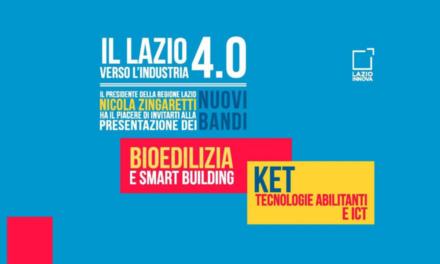 La Regione Lazio stanzia 16,5 milioni per Bioedilizia e nuove tecnologie