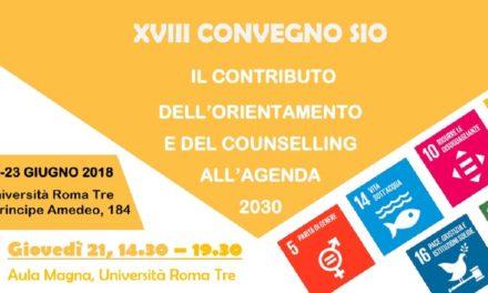 Orientamento Agenda 2030, convegno Sio a Roma