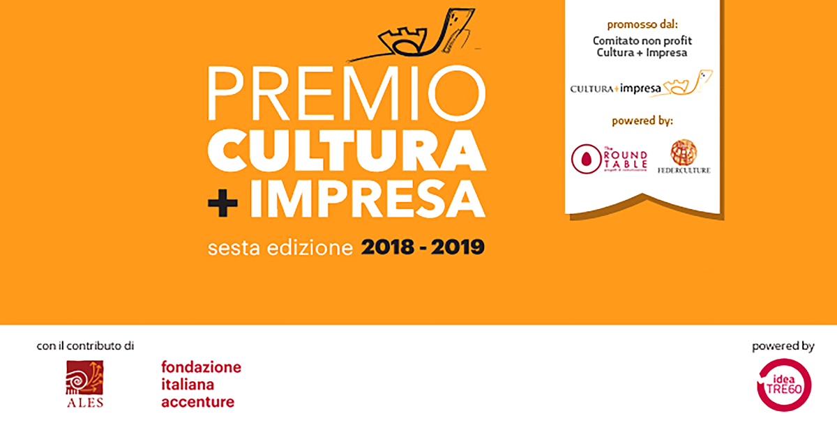 Premio Cultura +imprese: sesta edizione 2018-2019